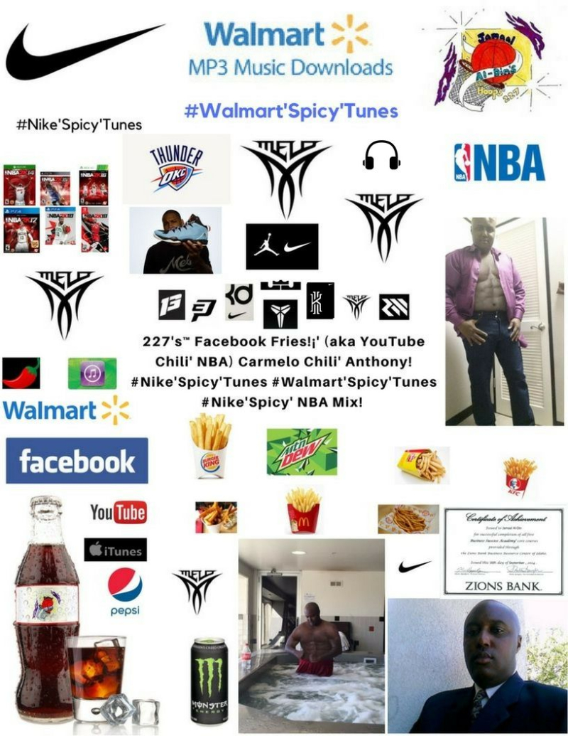 227's Facebook Fries (aka YouTube Chili' NBA) Carmelo Chili' Anthony #Nike'Spicy'Tunes #Walmart'Spicy'Tunes #Nike'Spicy' NBA Mix! (227)