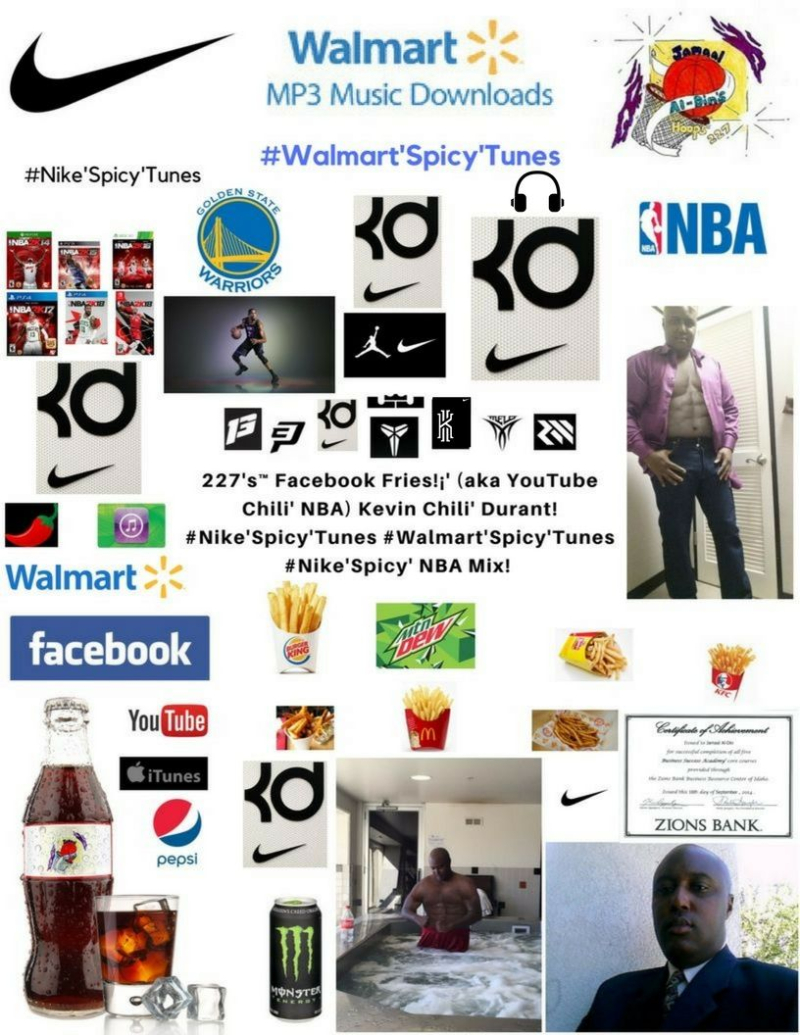 227's Facebook Fries (aka YouTube Chili' NBA) Kevin Chili' Durant #Nike'Spicy'Tunes #Walmart'Spicy'Tunes #Nike'Spicy' NBA Mix! (227)