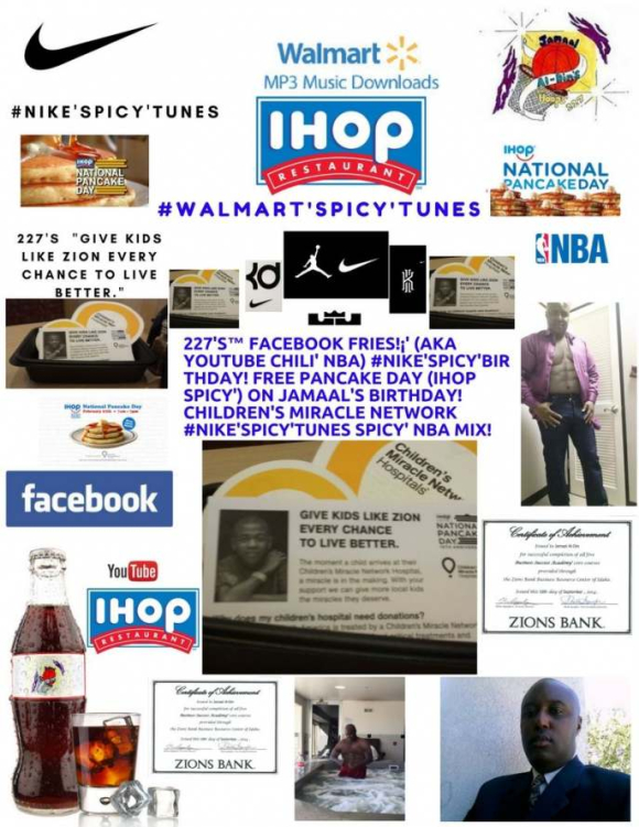 4dfcc9c45671 (aka YouTube Chili  NBA) Free Pancake Day (IHOP Spicy ) on Jamaal s  Birthday! Children s Miracle Network  Nike Spicy Birthday Spicy  NBA Mix!