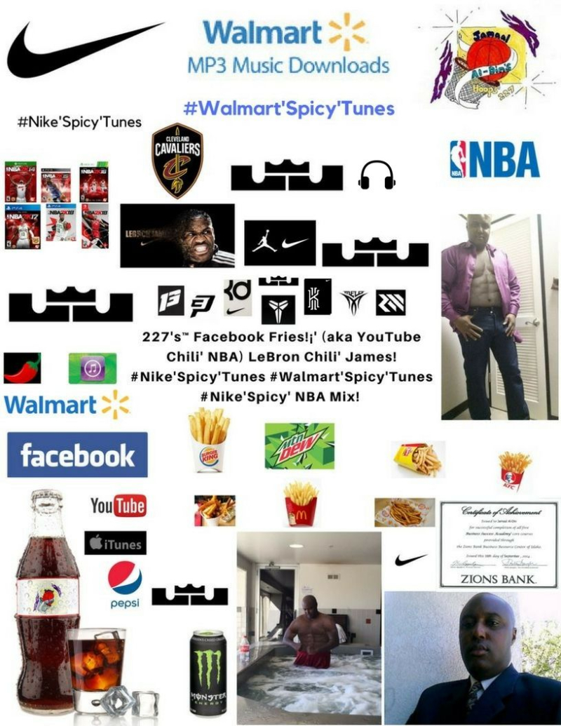 38df134604c8 227 s Facebook Fries (aka YouTube Chili  NBA) LeBron Chili  James  Nike