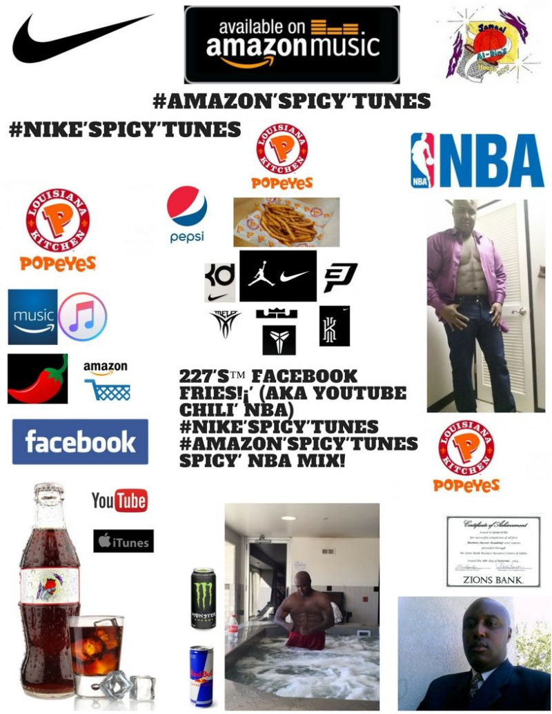 227's Facebook Fries (aka YouTube Chili' NBA) Popeyes Fries! #Nike'Spicy'Tunes Spicy' NBA Mix! Spicy' Chili' 1