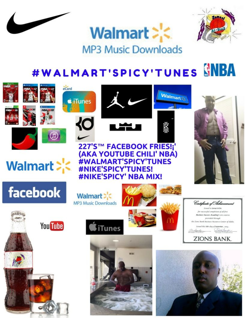 #Walmart'SPICY'Tunes! #NIKE'SPICY'Tunes Spicy' NBA MIX! Spicy' Basketball 227's Hoops 227 Spicy' NBA Chili' Mix! 1 Spicy' Chili' (1)