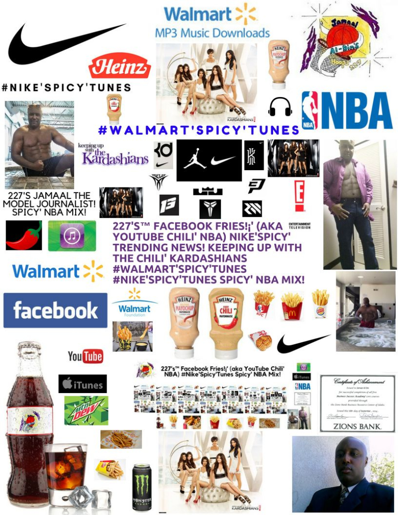 227's Facebook Fries (aka YouTube Chili' NBA) NIKE'SPICY'Heinz Fry Sauce and Fries TRENDING NEWS! KEEPING UP WITH THE CHILI' KARDASHIANS #Walmart'Spicy'Tunes #NIKE'SPICY'TUNES Spicy' NBA MIX! (227)