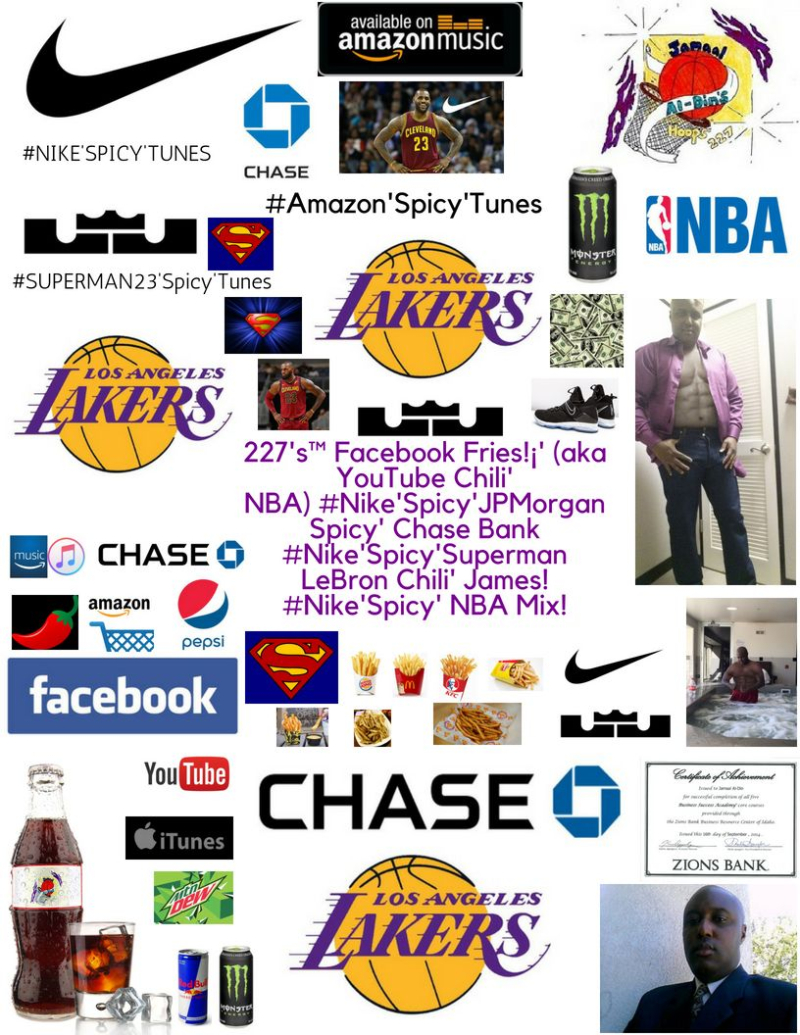 227's Facebook Fries (aka YouTube Chili' NBA) #Nike'Spicy'SUPERMAN! LeBron Chili' James! The King's Free Agent Summer! $$$$$$! Los Angeles Chili' Lakers #Nike'Spicy' NBA Mix!